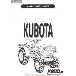 Kubota B1400 Manuel Utilisateur