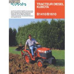 Kubota B1410 B1610 Fiche Information