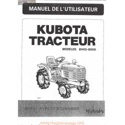 Kubota B1410 B1610 Manuel Utilisateur