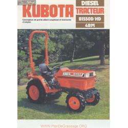 Kubota B1550d Hd Fiche Information