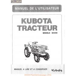 Kubota B4200 Manuel Utilisateur