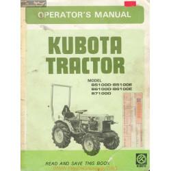 Kubota B5100 6100 7100 D Et E Manuel Utilisateur