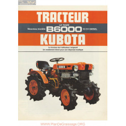 Kubota B6000 Fiche Information