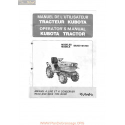 Kubota B6200 B7200 Manuel Utilisateur