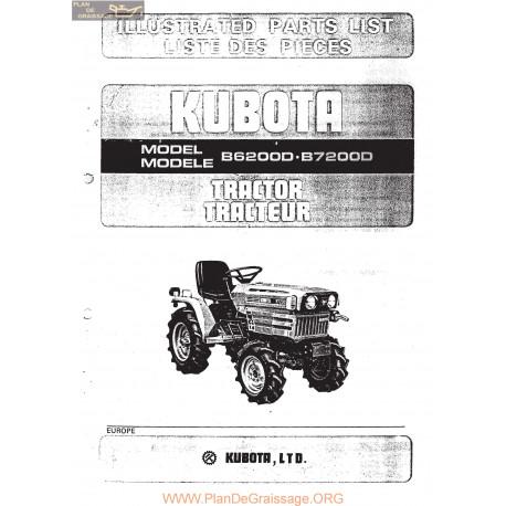 Kubota B6200d B7200d Manuel Entretien