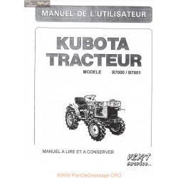 Kubota B7000 Manuel Utilisateur