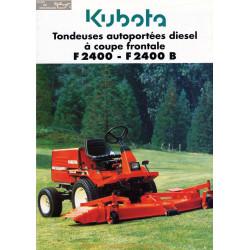 Kubota F2400 F2400b Fiche Information