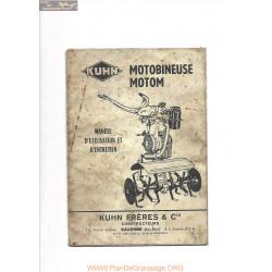 Kuhn Motom M3 Manuel Utilisateur