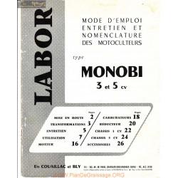 Labor Monobi 3 Et 5 Cv Manuel Utilisateur
