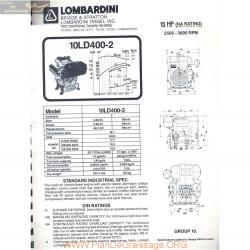 Lombardini 10 Ld 400 2 15hp 3600rpm Fiche Info