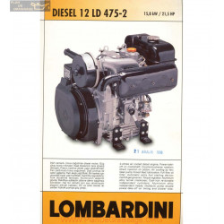 Lombardini 12 Ld 475 2 21 5hp 3000rpm Fiche Info