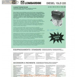 Lombardini 15 Ld 225 Diesel 4 8hp 3600rpm Fiche Info