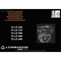 Lombardini 15ld 225 315 350 400 440 Manuel Entretien