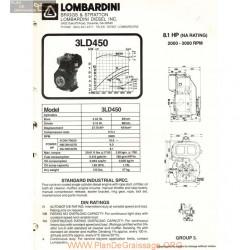 Lombardini 3 Ld 450 8 1hp 3000rpm Fiche Info
