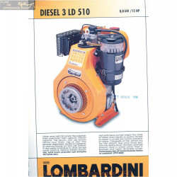 Lombardini 3 Ld 510 Diesel 12hp 3000rpm Fiche Info