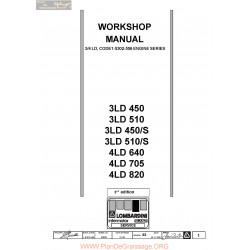 Lombardini 3ld 450 510 4ld 640 705 820 Ang Workshop