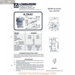 Lombardini 4 Ld 6400 10 8hp 3000rpm Fiche Info