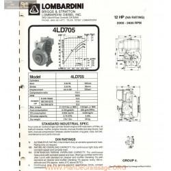 Lombardini 4 Ld 705 12hp 2600rpm Fiche Info