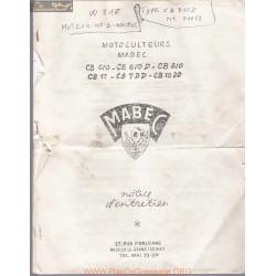 Mabec Cb 7 11 12 610 810 Manuel Entretien