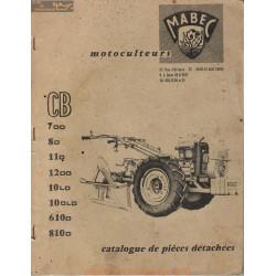 Mabec Cb 7 8 11 12 610 810 Motoculteur Manuel Entretien