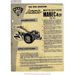 Mabec Cb4 Motoculteur Fiche Information