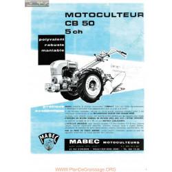 Mabec Cb50 Fiche Information
