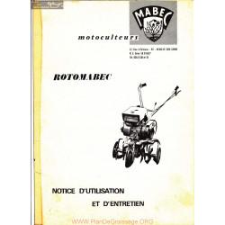 Mabec Rotomabec Notice Manuel Utilisateur