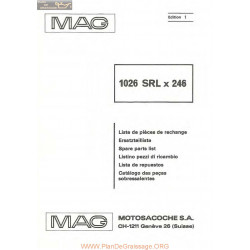 Mag 1026 Srlx 246 Piece Rechange