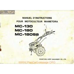 Mametora Mc130 Mc180 Manuel Utilisateur
