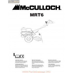 Mcculloch Mrt6 Manuel Entretien