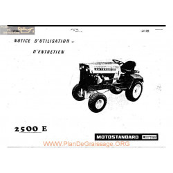 Motostandard 2500 Manuel Utilisateur