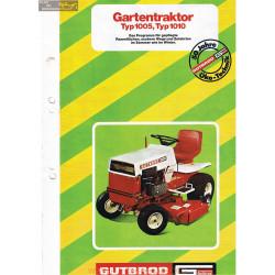 Motostandard Gutbrod 1005 1010 Fiche Information