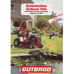 Motostandard Gutbrod 1010 Fiche Information