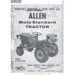 Motostandard Gutbrod 1030 Operator S Et Parts List