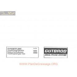 Motostandard Gutbrod 2060 Ersatzteilliste