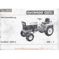 Motostandard Gutbrod 2350d Manuel Entretien