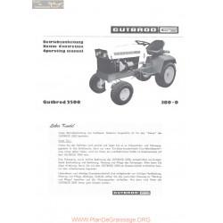 Motostandard Gutbrod 2500 20ps Renault Bedienungsanleitung