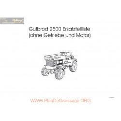 Motostandard Gutbrod 2500 S Manuel Entretien