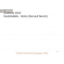 Motostandard Gutbrod 2500 S Moteur Renault