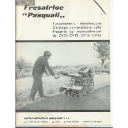 Pasquali 1965 Motoculteurs Manuel Entretien
