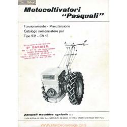 Pasquali 931 Motoculteur Piece Rechange