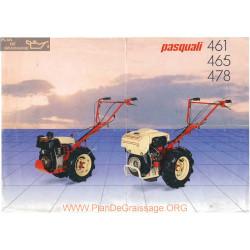 Pasquali Motoculteurs 461 465 Et 478 Fiche Information