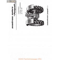 Pasquali Motoculteurs 601 Fiche Information