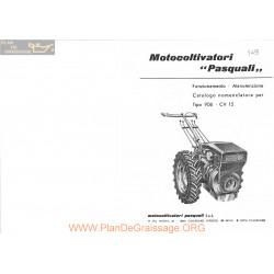 Pasquali Motoculteurs 906 Fiche Information