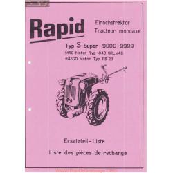 Rapid S Super 9000 9999 Fiche Information