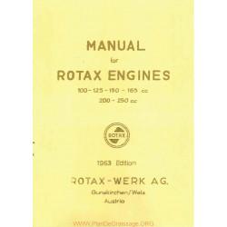 Rotax 100 125 150 165 200 250 Manuel Utilisateur