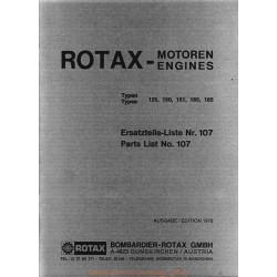 Rotax 125 150 165 185 1976 Fiche Information