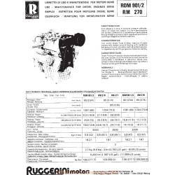 Ruggerini Rdm 901 2 Rm 270 Manuel Entretien