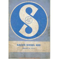 Sachs 400 Diesel Livret Manuel Entretien
