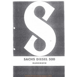 Sachs 500d Piece Rechange